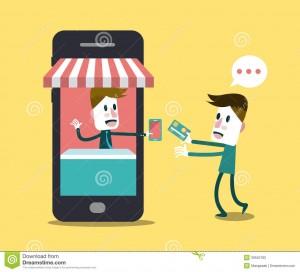 shopping-online-online-store-smart-phone-business-digital-marketing-concept-flat-design-element-vector-illustration-39555783